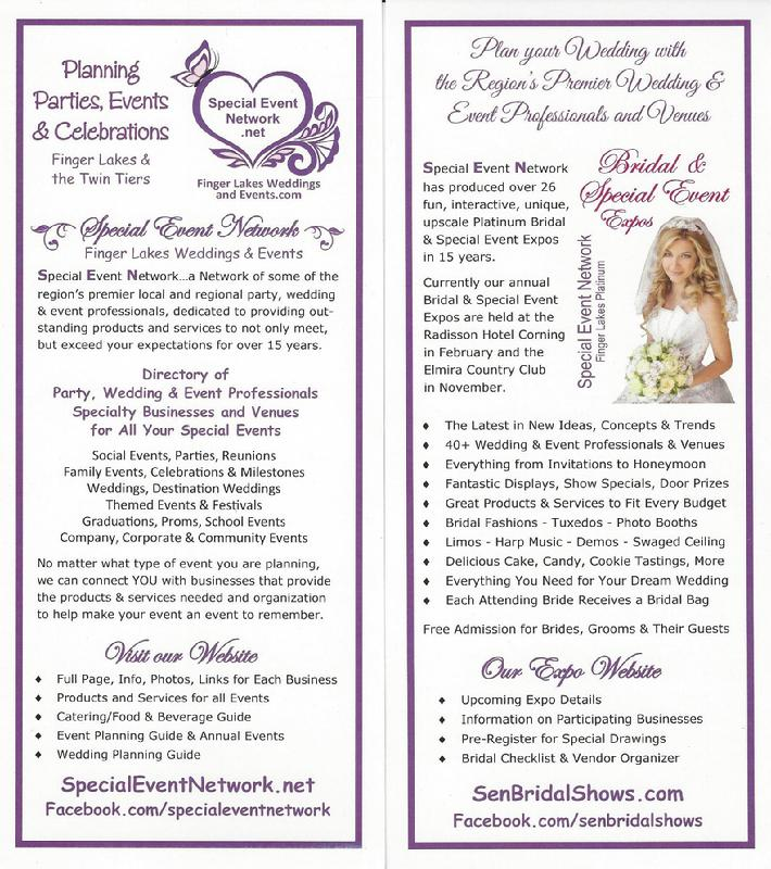 Finger Lakes Weddings and Events, Directory, Bridal Shows